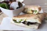 Sandwich egg and avocado — Stock Photo