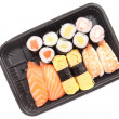 Stockfoto: Sushi in white background
