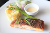 Baked salmon — Stock Photo