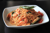 Spaghetti seafood — Stock Photo