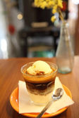 Affogato coffee with ice cream — Stock Photo
