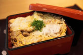Fried pork on rice butadon — Stock Photo