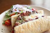 Meatloaf sandwich — Stock Photo
