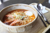 Spicy Noodle with egg — Stockfoto