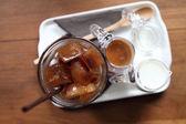 Ice latte coffe — Stock Photo