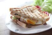 Sandwich egg bacon — Stock Photo