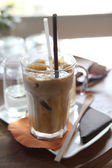 Ice latte coffe — Stock Photo