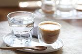Coffee on wood background — Stock Photo