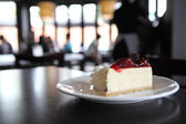 Tarta de queso fresa — Foto de Stock