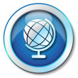 Stock Photo: World globe icon