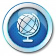 Royalty-Free Stock Photo: World globe icon