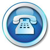 Telephone icon — Stock Photo