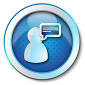 User message icon — Stock Photo