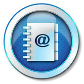 Adress book e-mail icon — Stock Photo