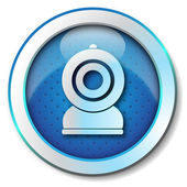 Web cam icon — Stock Photo