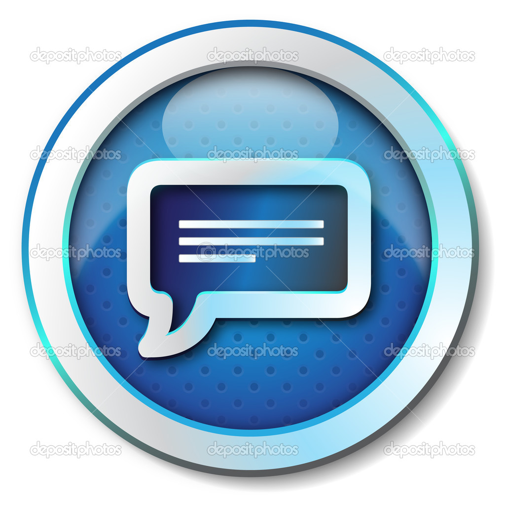 Illustration metallic icon for web isolated, color blue — Stock Photo #12937356