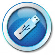 Stock Photo: Pen-drive USB icon