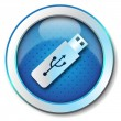 Pen-drive USB icon — Stock Photo #12959626