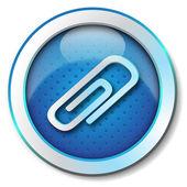Paper clip icon — Stock Photo