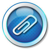 Büroklammer-symbol — Stockfoto
