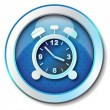 Foto Stock: Alarm clock icon