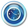 Clock icon - Foto Stock