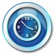 Clock icon - Stockfoto