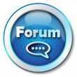 Forum icon - Stock Photo