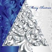 Fröhlicher Weihnachtsbaum — Stockvektor