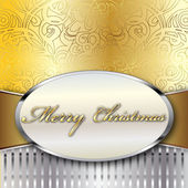 Merry Christmas Vector Card — Stock Vector