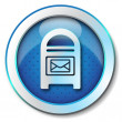 Postbox icon — Stock Photo