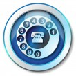 Stock Photo: Call telephone icon