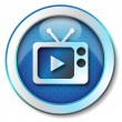 Stock Photo: TV play icon