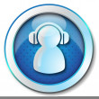 User headphones icon - Stock Photo