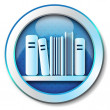 Stock Photo: E-book library icon