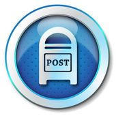Postbox icon — Stockfoto