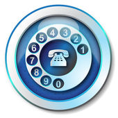 Call telephone icon — Stock Photo