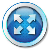 Extend arrow icon — Stock Photo