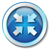 Reduced arrow icon — Stock Photo