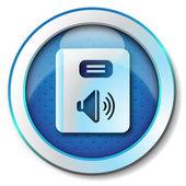 Icono de audiolibro — Foto de Stock