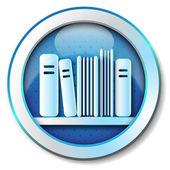 Ikona biblioteka e książki — Zdjęcie stockowe