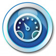 Speed icon — Stock Photo