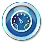 ikona prędkości — Zdjęcie stockowe