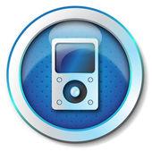 Music player icon — Stock Photo
