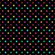 Stock Vector: Colorful PolkDot Pattern Vector