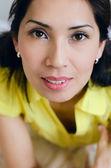 Närbild av asiatisk kvinna ansikte — Stockfoto