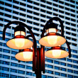 Street lamp with building background. — 图库照片