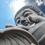 Giant Buddha sitting on lotusl. Hong Kong — Stock Photo #30085849