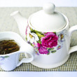 Cup of hot tea close up shoot — Stock Photo