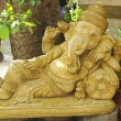 Golden statue of Ganesha — Stock Photo